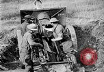 Image of United States Army artillery firing 155mm howitzers Western Front, 1917, second 54 stock footage video 65675072381