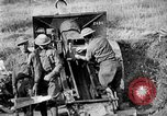 Image of United States Army artillery firing 155mm howitzers Western Front, 1917, second 56 stock footage video 65675072381