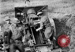 Image of United States Army artillery firing 155mm howitzers Western Front, 1917, second 57 stock footage video 65675072381