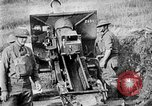 Image of United States Army artillery firing 155mm howitzers Western Front, 1917, second 58 stock footage video 65675072381