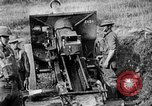 Image of United States Army artillery firing 155mm howitzers Western Front, 1917, second 59 stock footage video 65675072381