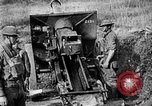 Image of United States Army artillery firing 155mm howitzers Western Front, 1917, second 60 stock footage video 65675072381