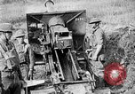Image of United States Army artillery firing 155mm howitzers Western Front, 1917, second 61 stock footage video 65675072381
