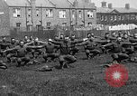 Image of American airmen exercise and calisthenics World War I London England United Kingdom, 1917, second 4 stock footage video 65675072433