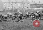 Image of American airmen exercise and calisthenics World War I London England United Kingdom, 1917, second 14 stock footage video 65675072433