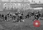 Image of American airmen exercise and calisthenics World War I London England United Kingdom, 1917, second 15 stock footage video 65675072433