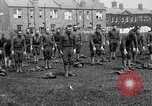 Image of American airmen exercise and calisthenics World War I London England United Kingdom, 1917, second 16 stock footage video 65675072433