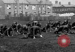 Image of American airmen exercise and calisthenics World War I London England United Kingdom, 1917, second 17 stock footage video 65675072433