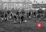 Image of American airmen exercise and calisthenics World War I London England United Kingdom, 1917, second 18 stock footage video 65675072433