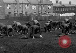 Image of American airmen exercise and calisthenics World War I London England United Kingdom, 1917, second 20 stock footage video 65675072433