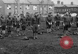 Image of American airmen exercise and calisthenics World War I London England United Kingdom, 1917, second 21 stock footage video 65675072433