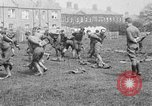 Image of American airmen exercise and calisthenics World War I London England United Kingdom, 1917, second 23 stock footage video 65675072433