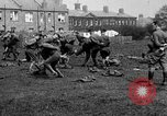 Image of American airmen exercise and calisthenics World War I London England United Kingdom, 1917, second 24 stock footage video 65675072433
