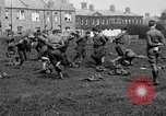 Image of American airmen exercise and calisthenics World War I London England United Kingdom, 1917, second 25 stock footage video 65675072433