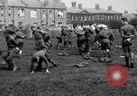 Image of American airmen exercise and calisthenics World War I London England United Kingdom, 1917, second 26 stock footage video 65675072433
