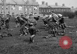 Image of American airmen exercise and calisthenics World War I London England United Kingdom, 1917, second 29 stock footage video 65675072433