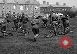 Image of American airmen exercise and calisthenics World War I London England United Kingdom, 1917, second 30 stock footage video 65675072433