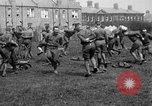 Image of American airmen exercise and calisthenics World War I London England United Kingdom, 1917, second 31 stock footage video 65675072433