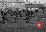 Image of American airmen exercise and calisthenics World War I London England United Kingdom, 1917, second 32 stock footage video 65675072433