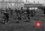 Image of American airmen exercise and calisthenics World War I London England United Kingdom, 1917, second 33 stock footage video 65675072433