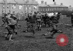 Image of American airmen exercise and calisthenics World War I London England United Kingdom, 1917, second 34 stock footage video 65675072433