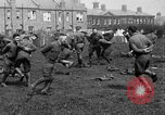 Image of American airmen exercise and calisthenics World War I London England United Kingdom, 1917, second 36 stock footage video 65675072433