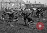 Image of American airmen exercise and calisthenics World War I London England United Kingdom, 1917, second 38 stock footage video 65675072433