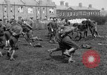 Image of American airmen exercise and calisthenics World War I London England United Kingdom, 1917, second 39 stock footage video 65675072433