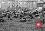 Image of American airmen exercise and calisthenics World War I London England United Kingdom, 1917, second 40 stock footage video 65675072433