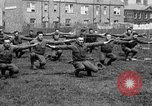 Image of American airmen exercise and calisthenics World War I London England United Kingdom, 1917, second 41 stock footage video 65675072433