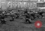 Image of American airmen exercise and calisthenics World War I London England United Kingdom, 1917, second 42 stock footage video 65675072433