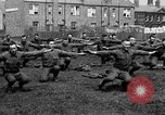 Image of American airmen exercise and calisthenics World War I London England United Kingdom, 1917, second 43 stock footage video 65675072433