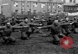 Image of American airmen exercise and calisthenics World War I London England United Kingdom, 1917, second 44 stock footage video 65675072433