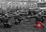 Image of American airmen exercise and calisthenics World War I London England United Kingdom, 1917, second 45 stock footage video 65675072433