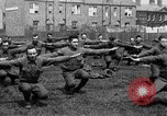 Image of American airmen exercise and calisthenics World War I London England United Kingdom, 1917, second 46 stock footage video 65675072433