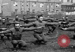 Image of American airmen exercise and calisthenics World War I London England United Kingdom, 1917, second 47 stock footage video 65675072433