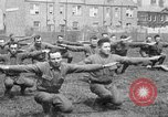 Image of American airmen exercise and calisthenics World War I London England United Kingdom, 1917, second 48 stock footage video 65675072433
