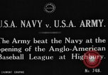 Image of Army versus Navy baseball in Anglo American Baseball League London England United Kingdom, 1917, second 3 stock footage video 65675072434