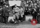 Image of Army versus Navy baseball in Anglo American Baseball League London England United Kingdom, 1917, second 31 stock footage video 65675072434