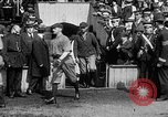 Image of Army versus Navy baseball in Anglo American Baseball League London England United Kingdom, 1917, second 33 stock footage video 65675072434
