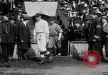 Image of Army versus Navy baseball in Anglo American Baseball League London England United Kingdom, 1917, second 35 stock footage video 65675072434