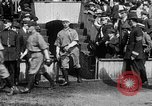 Image of Army versus Navy baseball in Anglo American Baseball League London England United Kingdom, 1917, second 41 stock footage video 65675072434