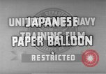 Image of Japanese paper balloon bomb Pacific Theater, 1945, second 11 stock footage video 65675072435