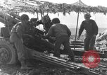 Image of American gun crew firing 105mm howitzer Germany, 1945, second 26 stock footage video 65675072467