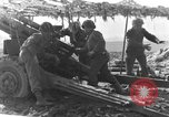 Image of American gun crew firing 105mm howitzer Germany, 1945, second 27 stock footage video 65675072467