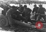 Image of American gun crew firing 105mm howitzer Germany, 1945, second 29 stock footage video 65675072467