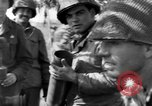 Image of American gun crew firing 105mm howitzer Germany, 1945, second 31 stock footage video 65675072467