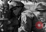 Image of American gun crew firing 105mm howitzer Germany, 1945, second 32 stock footage video 65675072467