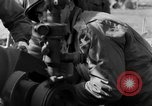 Image of American gun crew firing 105mm howitzer Germany, 1945, second 33 stock footage video 65675072467