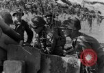 Image of American gun crew firing 105mm howitzer Germany, 1945, second 36 stock footage video 65675072467